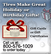 Gift Cards for Tires and Wheels