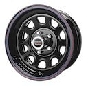 American Racing 767 Gloss Black Steel Red/Blue Stripe Wheels