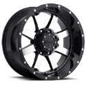 Gear Alloy 726M Big Block Gloss Black/Machined Wheels