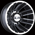 ION ALLOY STYLE 166 DUALLY REAR WHEELS MATTE BLACK/MACHINED