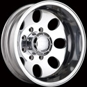 ION ALLOY STYLE 167 DUALLY REAR WHEELS POLISHED