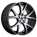 Platinum 419U Recluse Gloss Black Wheels