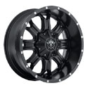 TIS 535B Satin Black Wheels