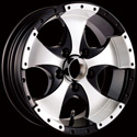ION ALLOY TRAILER STYLE-136 BLACK/MACHINED WHEELS