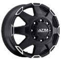 Ultra 025SB Phantom Dually Satin Black Front Wheels