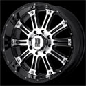 XD Series Hoss Wheels Glossy Black/Machined [XD795 Wheels]