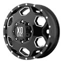 XD Series Batallion Dually Wheels Glossy Black/Milled Front [XD815 Wheels]