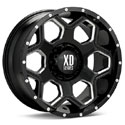 XD Series Batallion Dually Wheels Glossy Black/Milled Rear [XD815 Wheels]