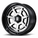 XD Series Bones Wheels Black/Machined [XD824 Wheels]