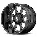 XD Series Buck 25 Wheels Black/Milled [XD825 Wheels]