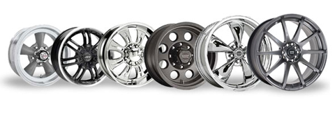 Image of different sized wheel rims