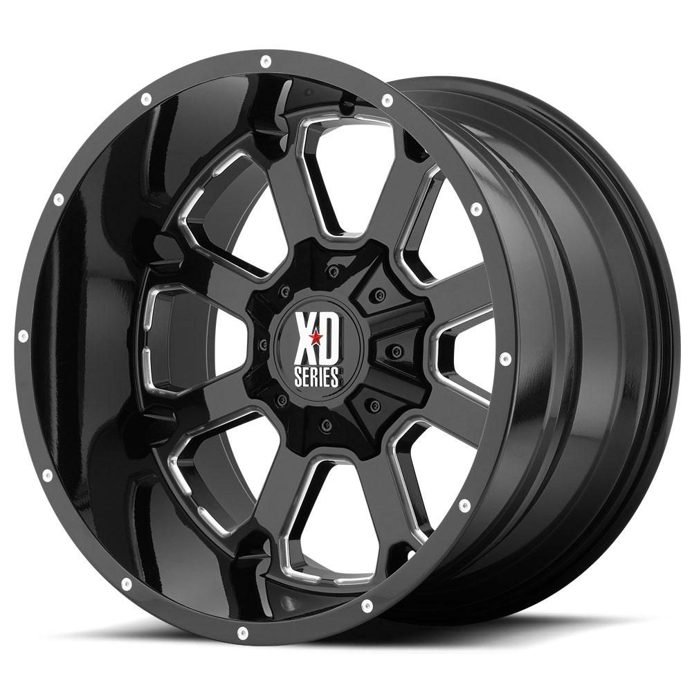 Xd Series Buck 25 Wheels Black Milled Xd825 Wheels 20x12 8 180