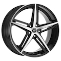 Platinum 440U Smooth Trip Wheels Gloss Black/Diamond Cut