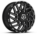 TIS 544BM Dually Front Gloss Black Wheels