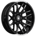 Dropstars 654BM Gloss Black/Milled Wheels
