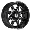 Dropstars 655BM Gloss Black/Milled Wheels