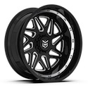 Dropstars 657BM Gloss Black/Milled Wheels