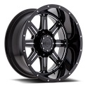 Gear Alloy 726BM Big Block Gloss Black/Milled Wheels