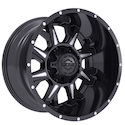 Gear Alloy 742BM Kickstand Wheels Gloss Black/Milled