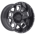Gear Alloy 743BM Armor Wheels Gloss Black/Milled
