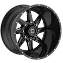 Gear Alloy 751BM Wrath Gloss Black Wheels