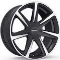 Cruiser Alloy 922MB Kinetic Wheels Gloss Black/Mirror Machined