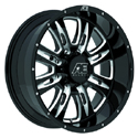 EAGLE ALLOYS SERIES 016 BLACK/MILLED WHEELS