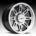 EAGLE ALLOYS SERIES 027 SUPER FINISH/BLACK WHEELS