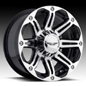EAGLE ALLOYS SERIES 050 SUPER FINISH/BLACK WHEELS