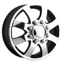 EAGLE ALLOYS SERIES 097 DUALLY FRONT SUPER FINISH/BLACK WHEELS