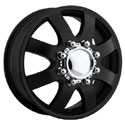 EAGLE ALLOYS SERIES 097 DUALLY FRONT BLACK WHEELS