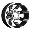 EAGLE ALLOYS SERIES 098 DUALLY REAR SUPER FINISH/BLACK WHEELS