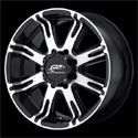 American Racing AR708 Wheels Matte Black/Machined