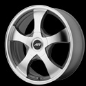 American Racing AR895 Wheels Dark Silver/Machined
