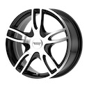 American Racing Estrella 2 Gloss Black/Machined Wheels