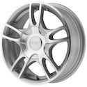 American Racing Estrella 2 Silver/Machined Wheels