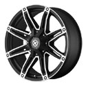 American Racing ATX Axe Wheels Satin Black/Machined [AX193 Wheels]