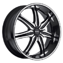 BOSS MOTORSPORTS BOSS 345 SUPERFINISH/BLACK WHEELS