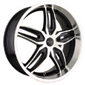 DIP BIONIC ALLOY WHEELS BLACK/MACHINED