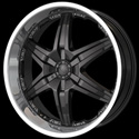 DIP WICKED WHEELS (SERIES D39) BLACK/MACHINED
