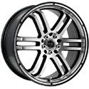 Drifz 207MB FX Machined Wheels