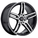 Drifz 307MB Tech R Mirror Machined Wheels