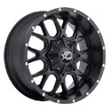 Dropstars 645B Satin Black Wheels