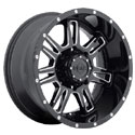 Gear Alloy 737BM Challenger Gloss Black Wheels