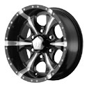 Helo Maxx Wheels Glossy Black/Milled [HE791 Wheels]