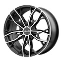 Helo HE907 Gloss Black/Machined Wheels