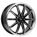 ICW Racing 214MB Tsunami Gloss Black Wheels