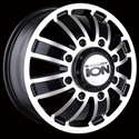 ION ALLOY STYLE 166 DUALLY FRONT WHEELS MATTE BLACK/MACHINED