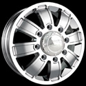 ION ALLOY STYLE 166 DUALLY FRONT WHEELS CHROME