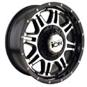 ION ALLOY STYLE 186 WHEELS BLACK/MACHINED FACE